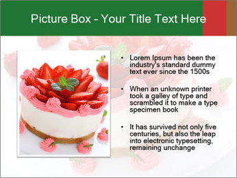 Pink Cheesecake with Strawberries PowerPoint Template - Slide 13