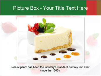 Pink Cheesecake with Strawberries PowerPoint Template - Slide 16