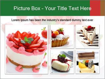 Pink Cheesecake with Strawberries PowerPoint Template - Slide 19