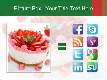 Pink Cheesecake with Strawberries PowerPoint Template - Slide 21