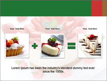 Pink Cheesecake with Strawberries PowerPoint Template - Slide 22