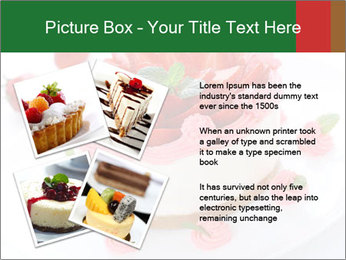 Pink Cheesecake with Strawberries PowerPoint Template - Slide 23