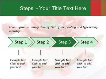 Pink Cheesecake with Strawberries PowerPoint Template - Slide 4