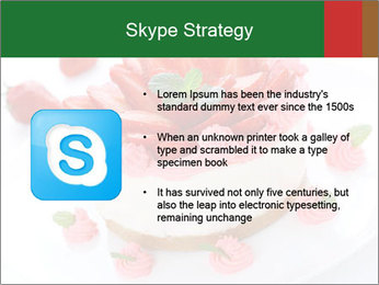Pink Cheesecake with Strawberries PowerPoint Template - Slide 8