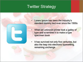 Pink Cheesecake with Strawberries PowerPoint Template - Slide 9