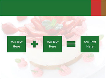 Pink Cheesecake with Strawberries PowerPoint Template - Slide 95