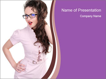 Sexual Secretary PowerPoint Template - Slide 1