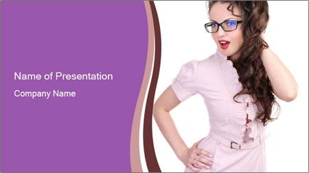 Sexual Secretary PowerPoint Template