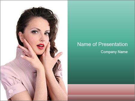 Shy Lady PowerPoint Templates