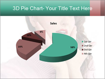 Shy Lady PowerPoint Templates - Slide 35