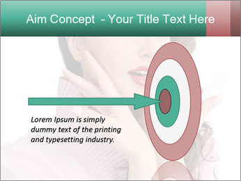Shy Lady PowerPoint Templates - Slide 83