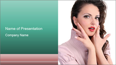 Shy Lady PowerPoint Template