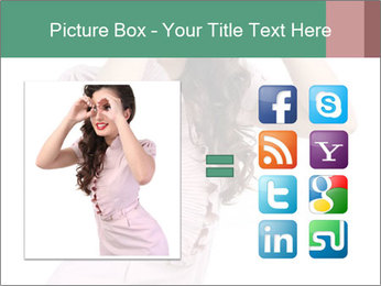 Lady Spying PowerPoint Template - Slide 21