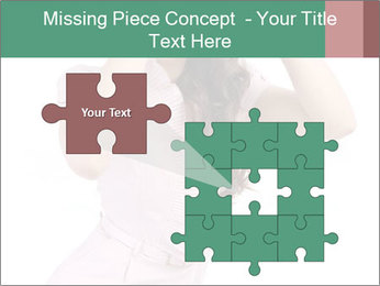 Lady Spying PowerPoint Template - Slide 45