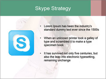 Lady Spying PowerPoint Template - Slide 8