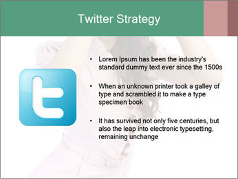 Lady Spying PowerPoint Template - Slide 9