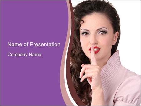 Pin Up Lady with Secrets PowerPoint Templates