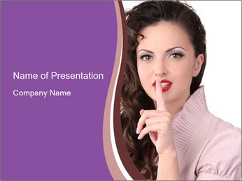 Pin Up Lady with Secrets PowerPoint Templates - Slide 1