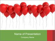 Red Balloons PowerPoint Templates
