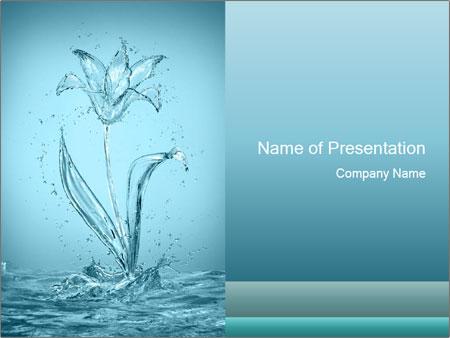 Water Tulip PowerPoint Templates