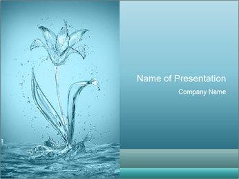 Water Tulip PowerPoint Template - Slide 1