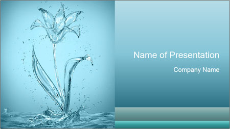 Water Tulip PowerPoint Template