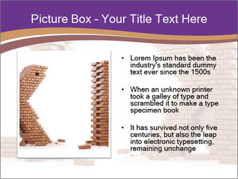 Letters Made of Bricks PowerPoint Templates - Slide 13