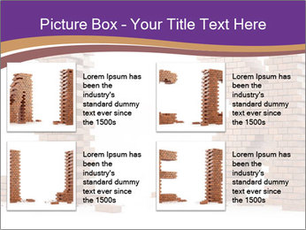 Letters Made of Bricks PowerPoint Templates - Slide 14