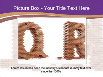 Letters Made of Bricks PowerPoint Templates - Slide 15