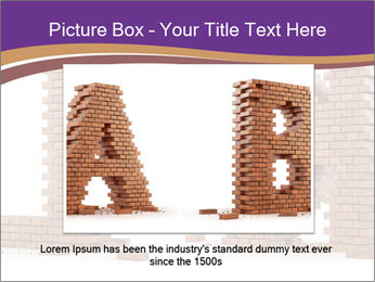Letters Made of Bricks PowerPoint Templates - Slide 16
