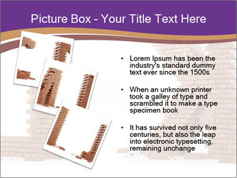 Letters Made of Bricks PowerPoint Templates - Slide 17