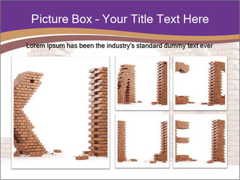 Letters Made of Bricks PowerPoint Templates - Slide 19