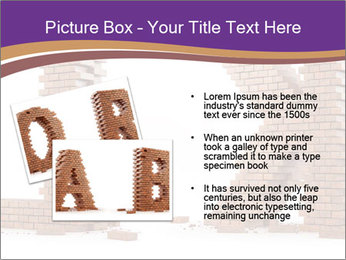 Letters Made of Bricks PowerPoint Templates - Slide 20