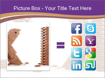 Letters Made of Bricks PowerPoint Templates - Slide 21