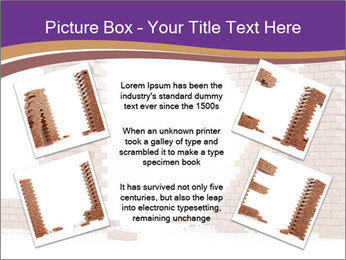Letters Made of Bricks PowerPoint Templates - Slide 24