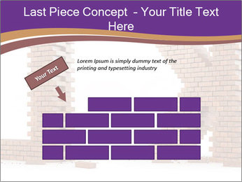 Letters Made of Bricks PowerPoint Templates - Slide 46
