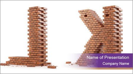 Letters Made of Bricks PowerPoint Template