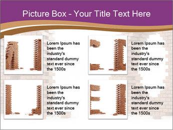 3D Letter Bricks PowerPoint Template - Slide 14