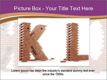 3D Letter Bricks PowerPoint Template - Slide 15