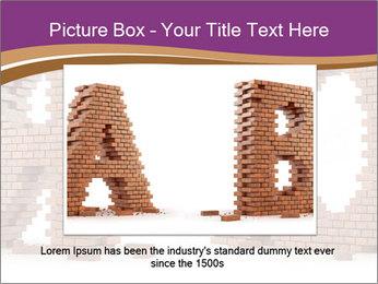 3D Letter Bricks PowerPoint Template - Slide 16