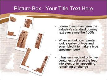 3D Letter Bricks PowerPoint Template - Slide 17