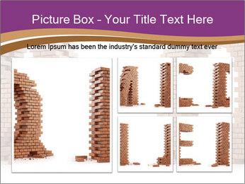 3D Letter Bricks PowerPoint Template - Slide 19
