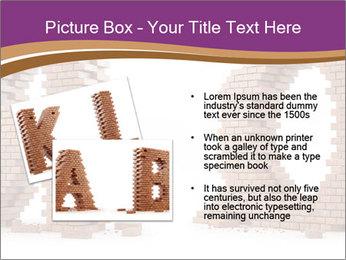 3D Letter Bricks PowerPoint Template - Slide 20