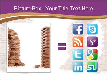 3D Letter Bricks PowerPoint Template - Slide 21