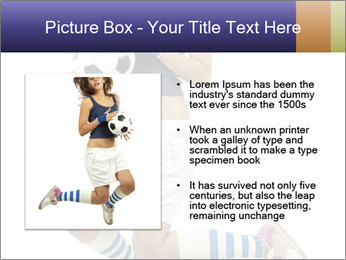 Soccer Girl Holding Ball PowerPoint Template - Slide 13