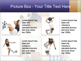 Soccer Girl Holding Ball PowerPoint Template - Slide 14