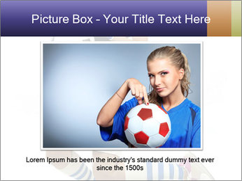 Soccer Girl Holding Ball PowerPoint Template - Slide 15