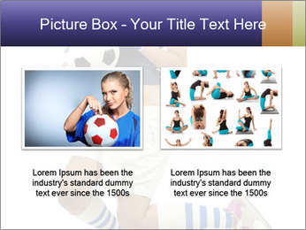Soccer Girl Holding Ball PowerPoint Template - Slide 18