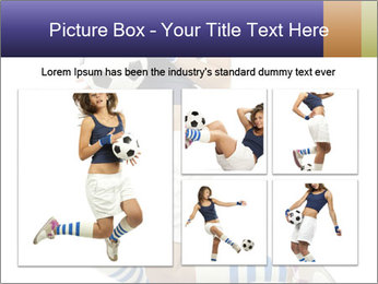 Soccer Girl Holding Ball PowerPoint Template - Slide 19