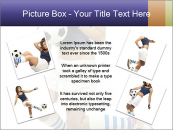 Soccer Girl Holding Ball PowerPoint Template - Slide 24